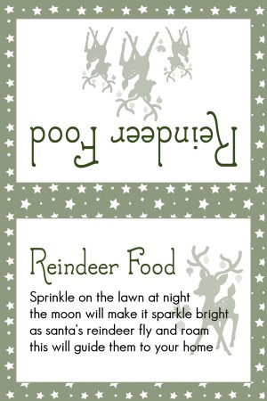 Reindeer Food Dark Green Stars