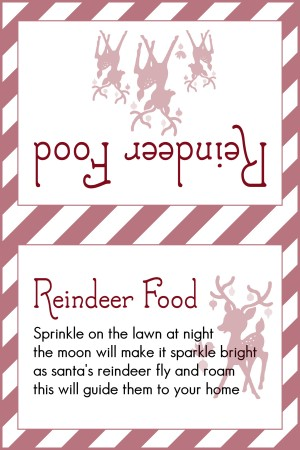 Reindeer Food Dark Red Candy Stripe