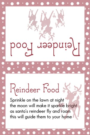 Reindeer Food Med Red Dots