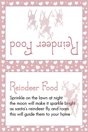Reindeer Food light Red Hearts