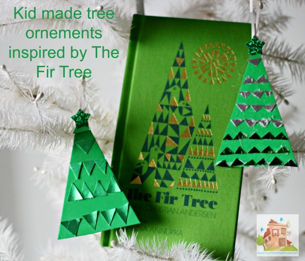 kio made tree ornaments inspired by the fir tree
