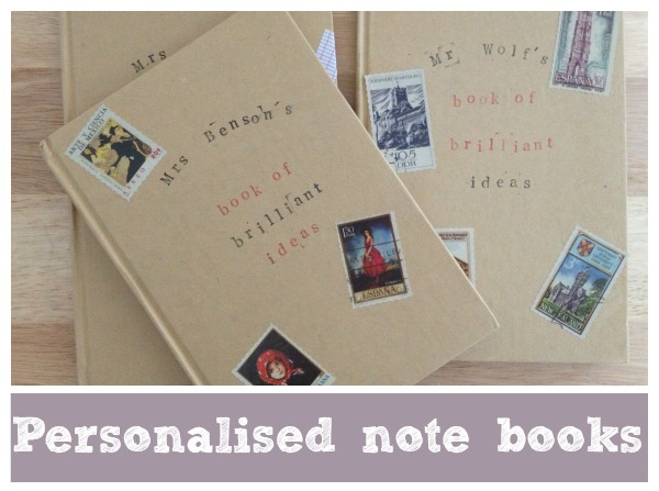 personalised note books