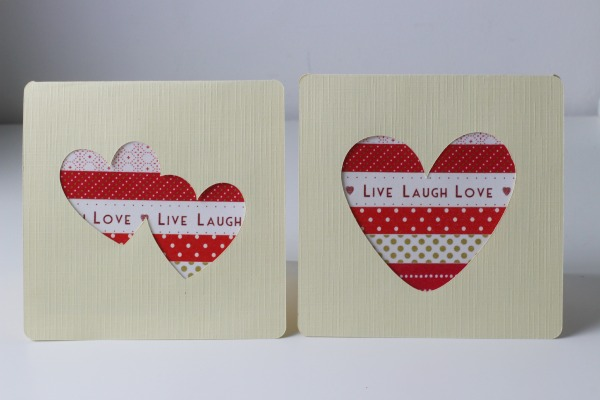 washi tape valentines cards