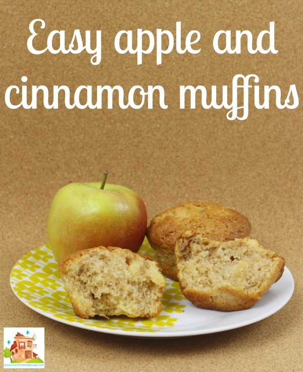 Easy apple and cinnamon muffins