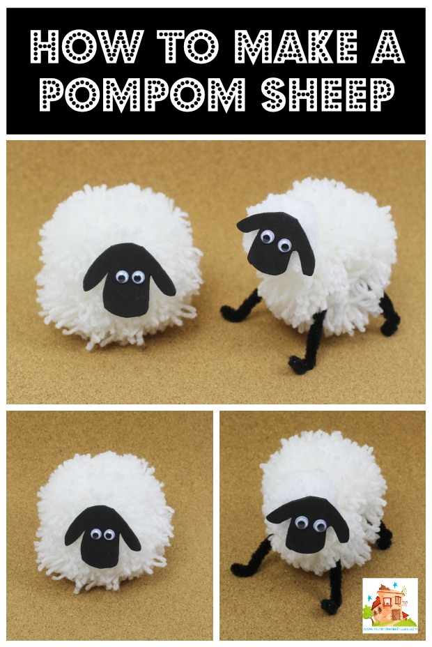 How to make a pompom sheep