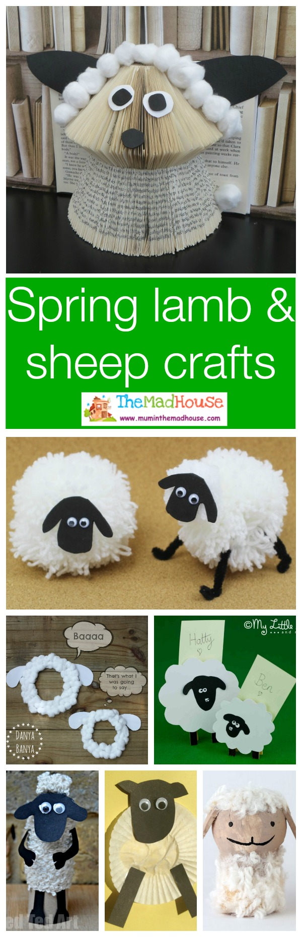 Sheep spring lamb crafts