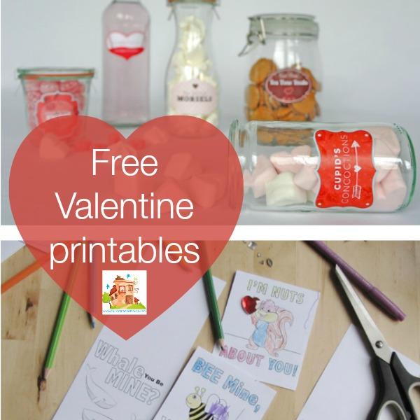 free valentine printables square