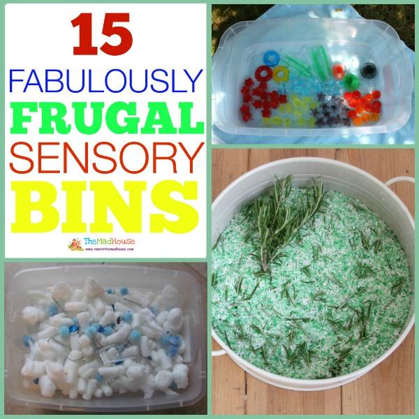 Fabulously Frugal sensory Bins