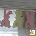 Pompom tailed bunny garland