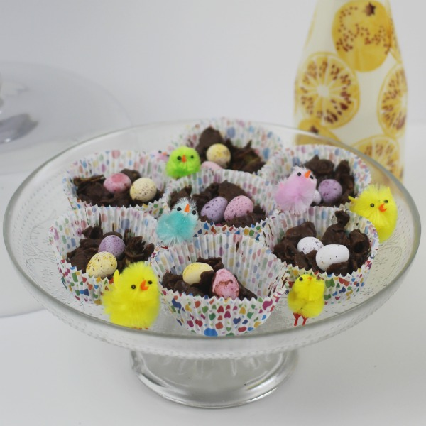 chocolate cornflakes nests square