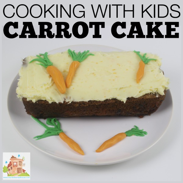 cooking with kids carrot cake