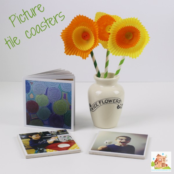 picture tile coasters