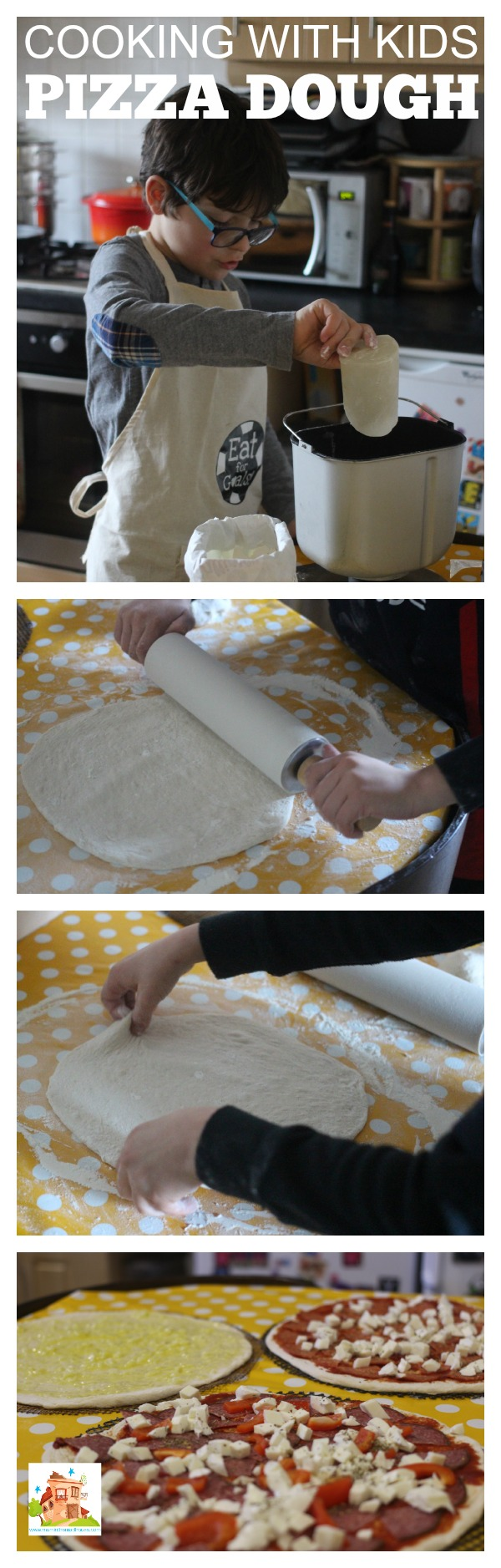 pizza dough cooking with kids