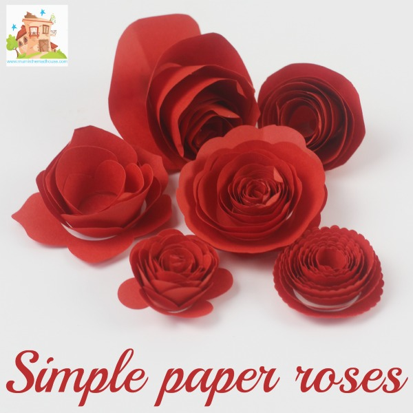simple paper roses square