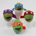 Teenage Mutant Ninja Turtle decorated eggs