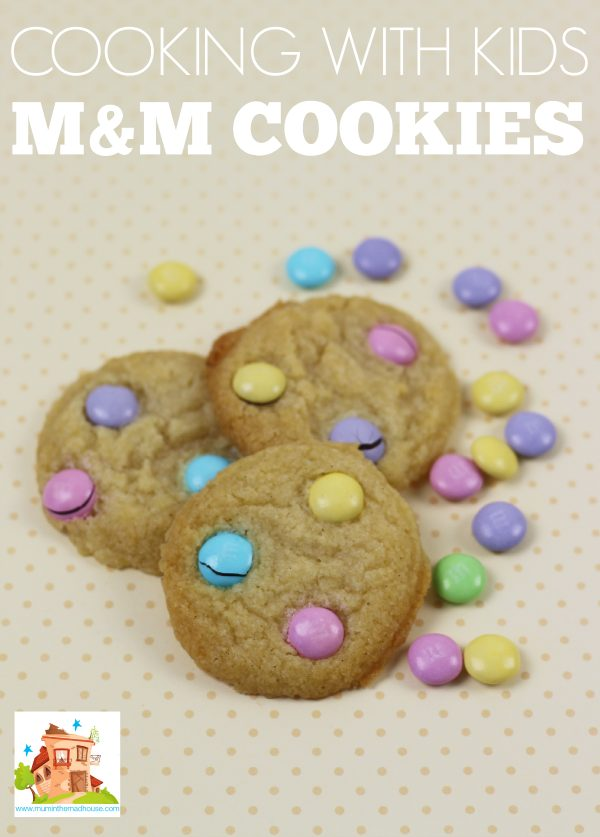 M&M Cookies cooking with kids