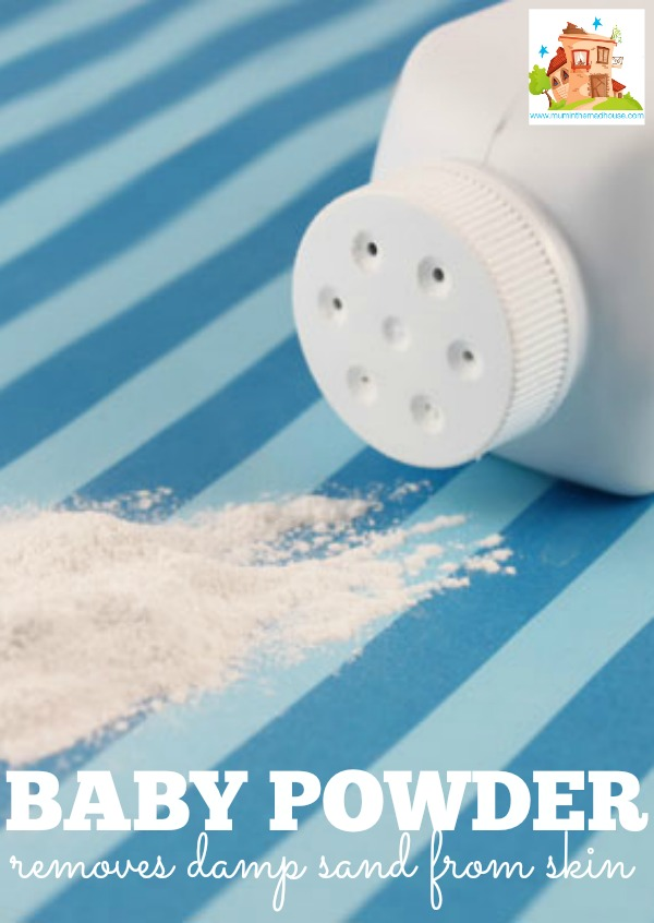 baby powder damp sand