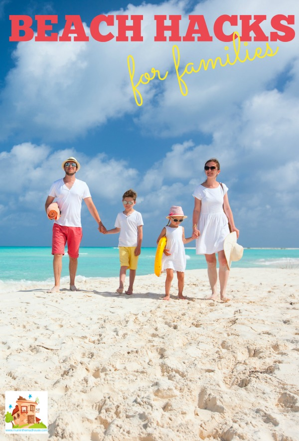beach hacks for families
