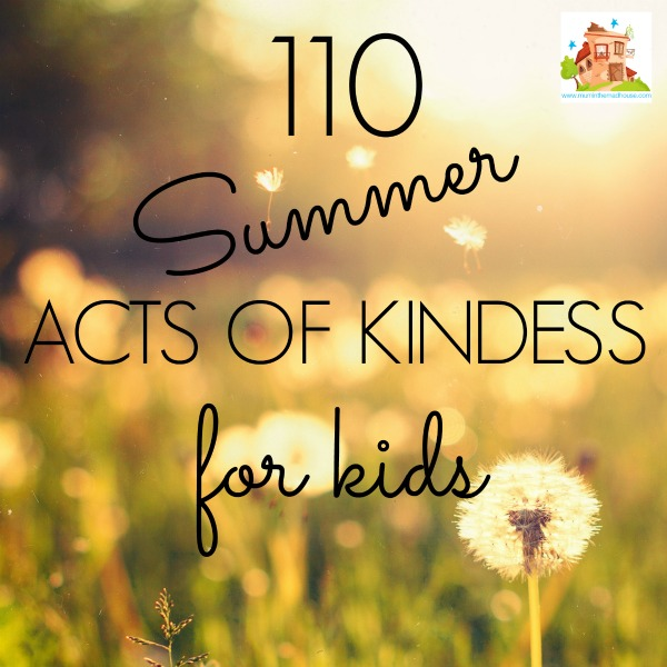100 summer acts of kindness for kids