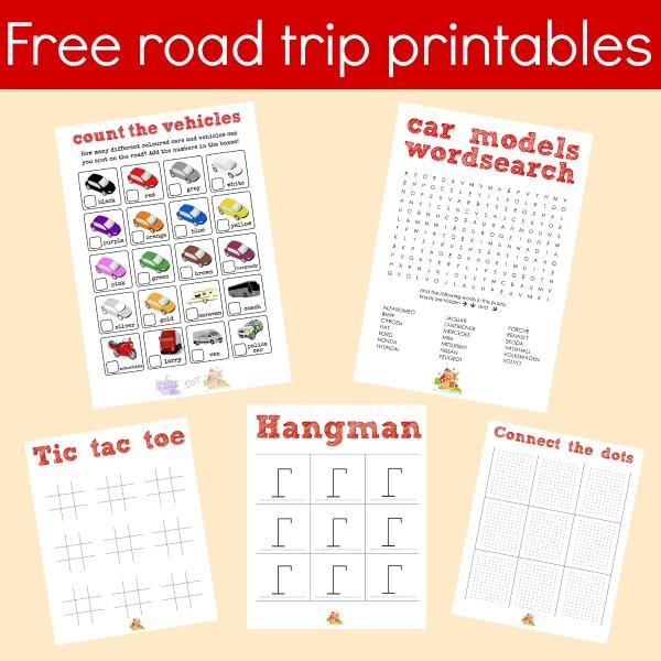 free road trip printables