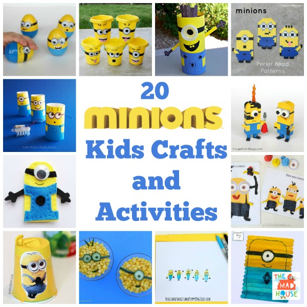 20 minions kids crafts and activities square