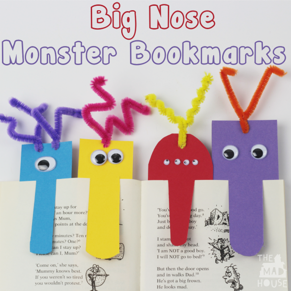 Big nose monster bookmarks