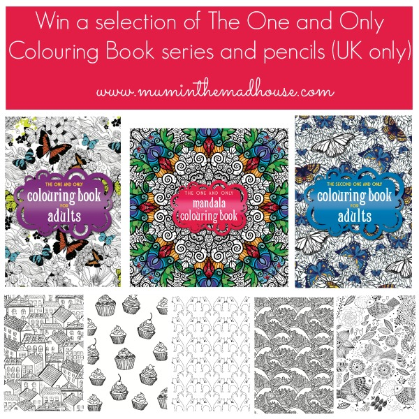 Win a selection of The One and Only Colouring Book series and pencils