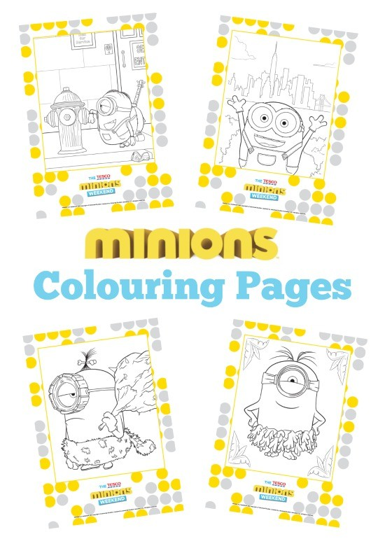 minions colouring pages