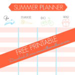 Free Summer Planner and how keep the kids entertained over summer