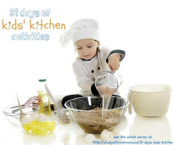 31 days of kids kitchen horizontal
