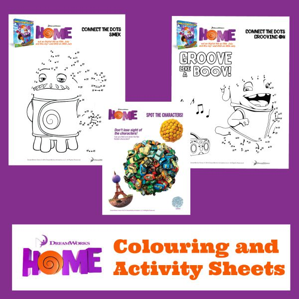 home activity and colouring sheets
