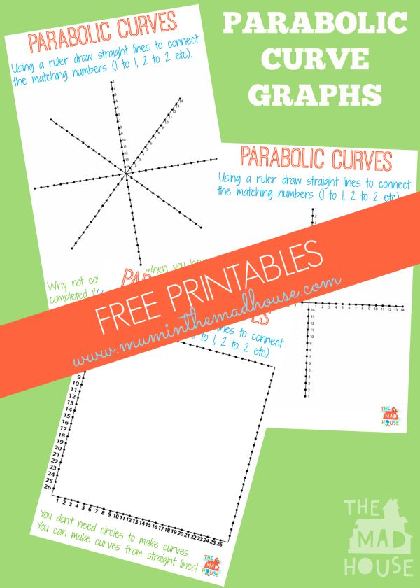 Parabolic Line Design Templates Maths And Art Collide