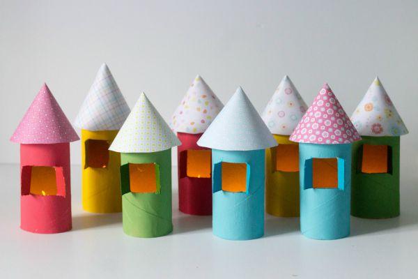 cardboard tube houses