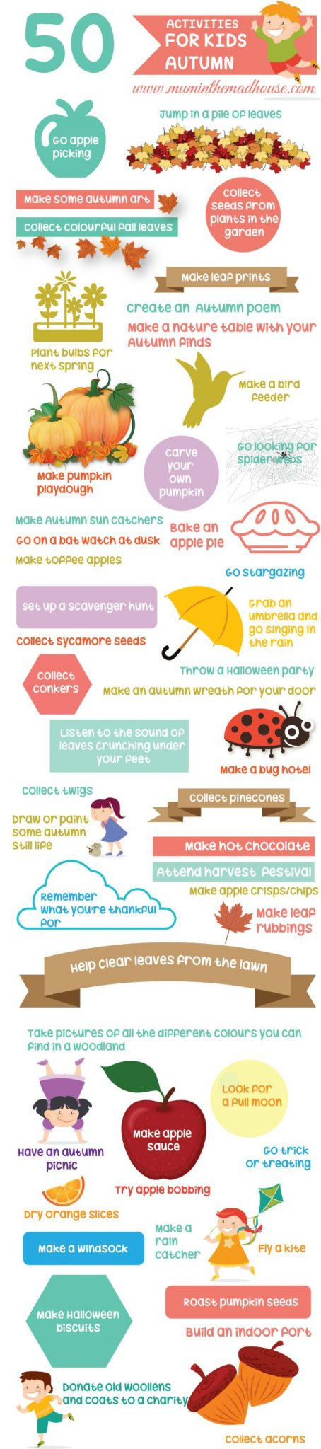 50 Autumn Activities for Kids. Fab low cost or no cost Autumn Activities for Kids to ensure families have fun this fall