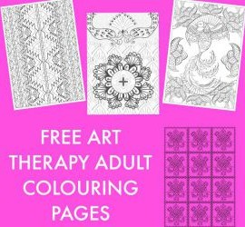 Free art therapy adult colouring pages featured