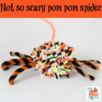 Not so scary pom pom spider