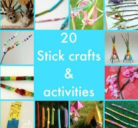 stick crafts and activities featured