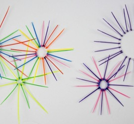Firework Art - Zip tie firework sculptures