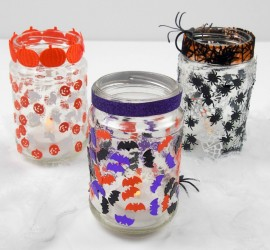 Simple jar lanterns for Halloween