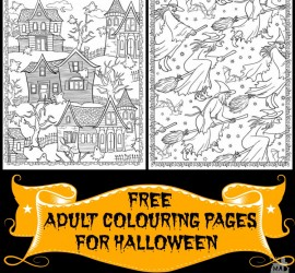 free adult colouring pages for halloween