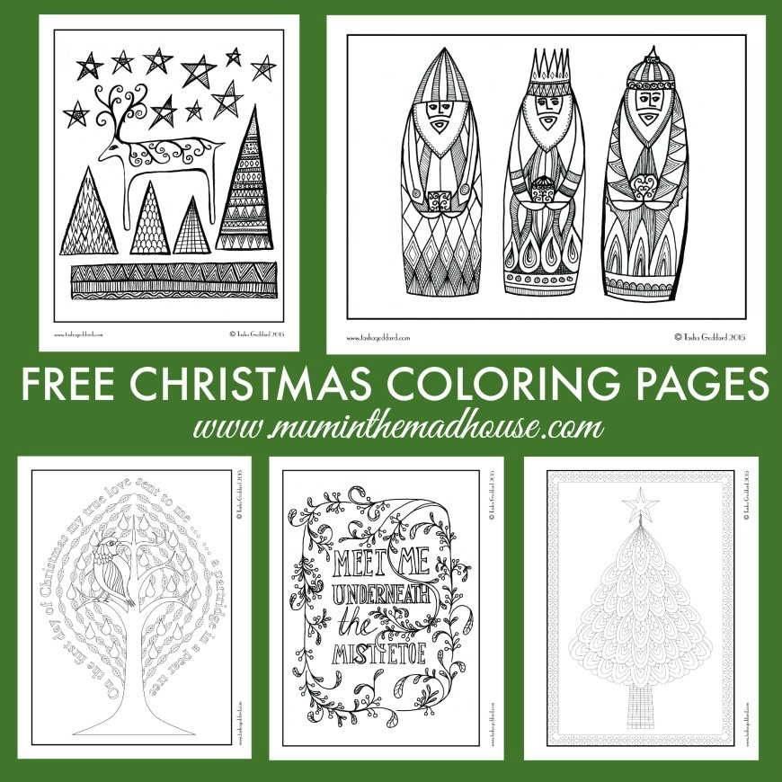 Free Christmas Colouring Pages for Adults and Teens  Mum In The