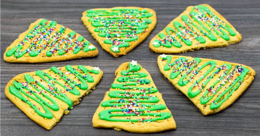 Gingerbread Christmas Tree Cookies