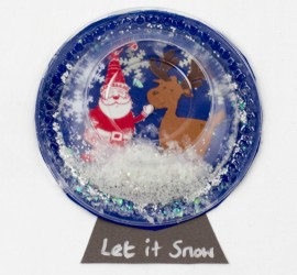 Plastic bowl Snow Globe Art for Kids