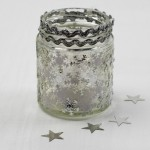 Winter Snowflake Jar Luminary