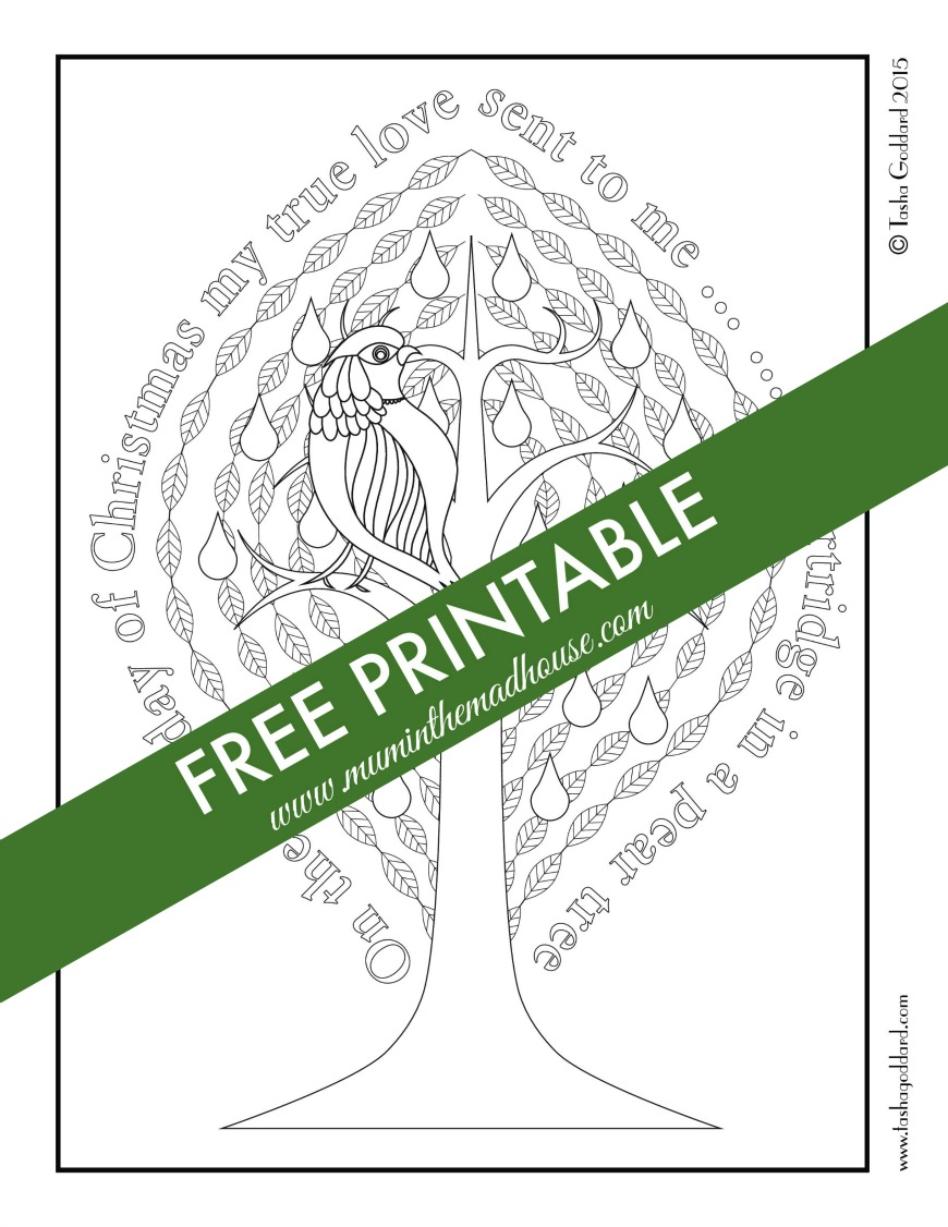Coloring book printouts for adults - Free Christmas Adult Colouring Page