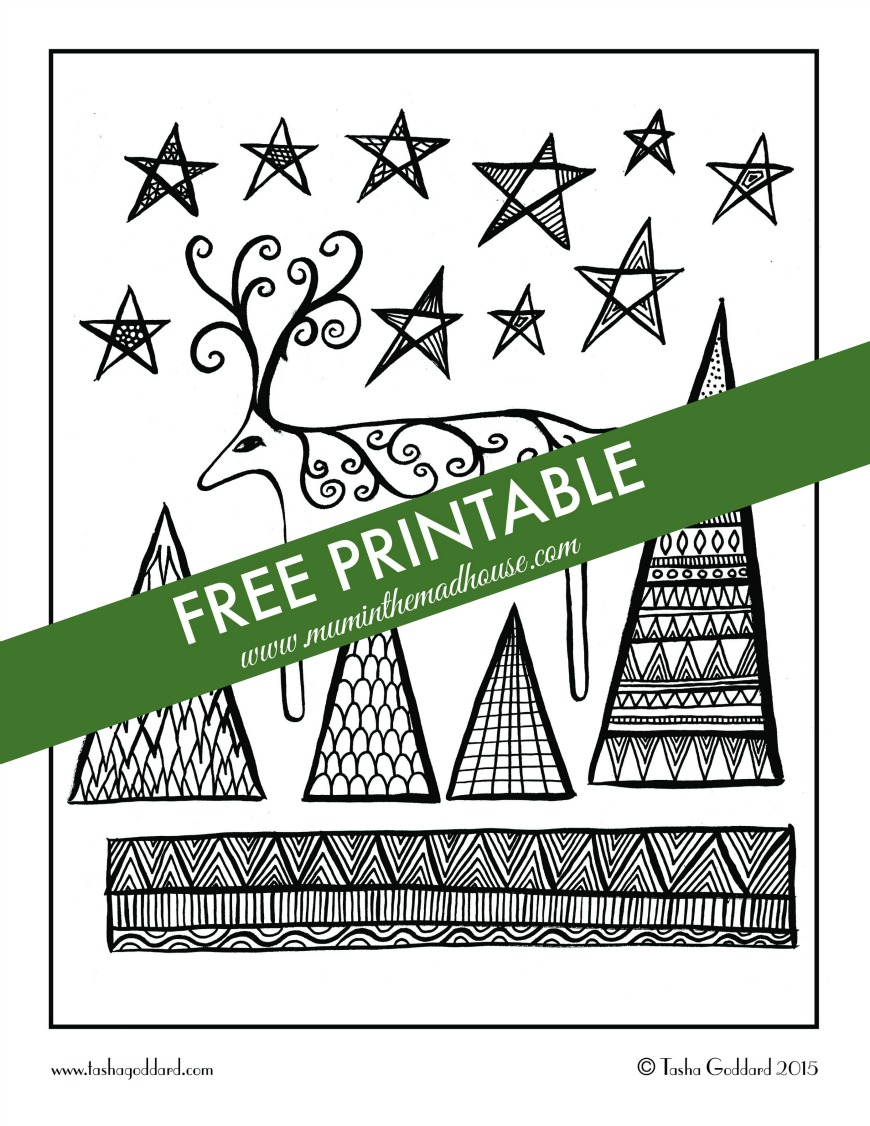 Christmas colouring sheets - Free Christmas Adult Colouring Page