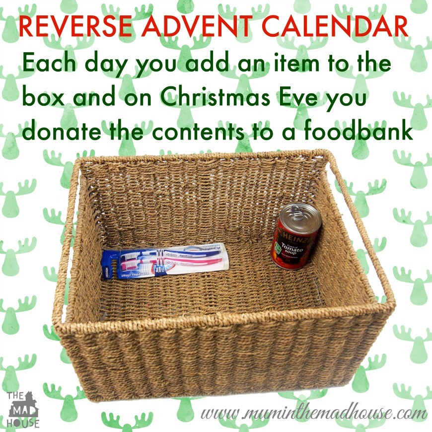 Reverse Advent Calendar Ideas : Acts of kindness for advent an alternative
