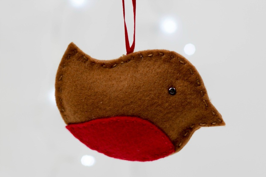 Felt Robin Christmas Ornament