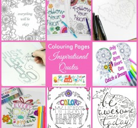 Inspirational Quotes Colouring Pages