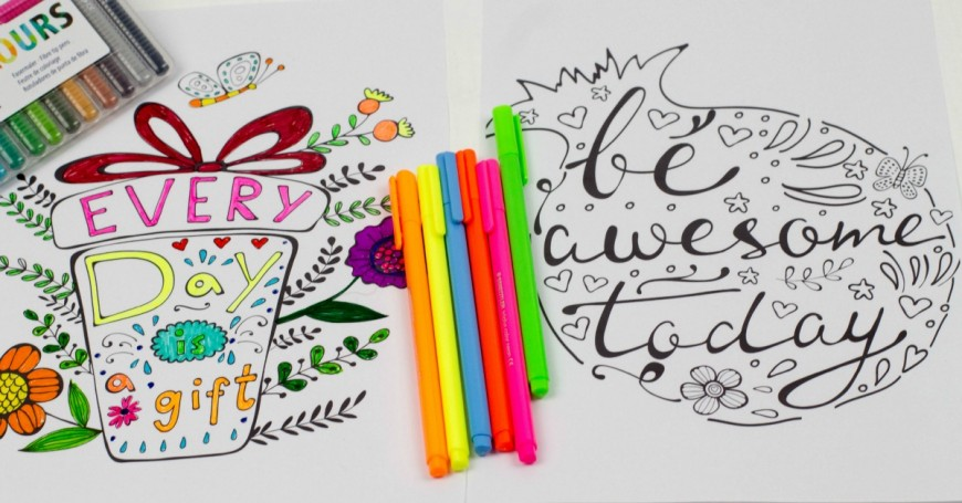 Inspirational Quotes Colouring Pages facebook